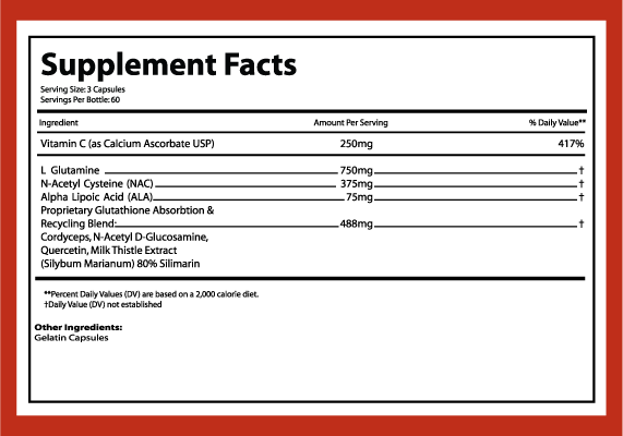 Dr Keller Glutathione Formula Ingredients